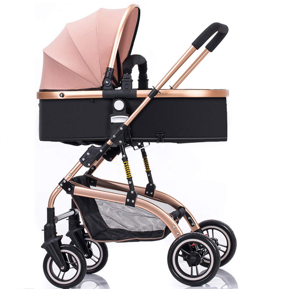 Baby Pram, High Landscape Baby Stroller can sit and Lie Down Two-Way Toddler Pushchair for Babies 0-3 Years Old by WYX-Stroller (Image #4)