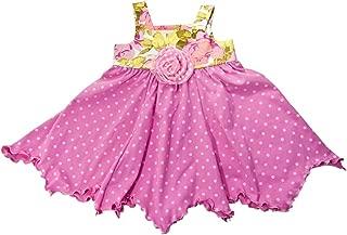 product image for Cheeky Banana Baby/Toddler Girls Handkerchief Dress Pink Dots