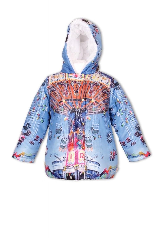 Pezzo Doro Mini M11015 Winterjacke Mantel Jacke blue multicolor
