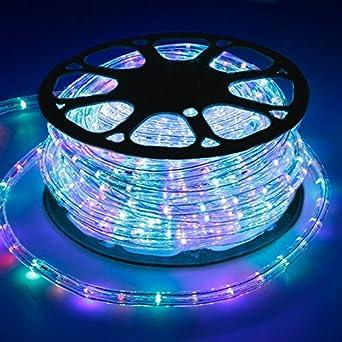 ECD Germany 30m LED Lichterschlauch RGB 220 240V AC Stromverbrauch Ca. 1.2W  Pro