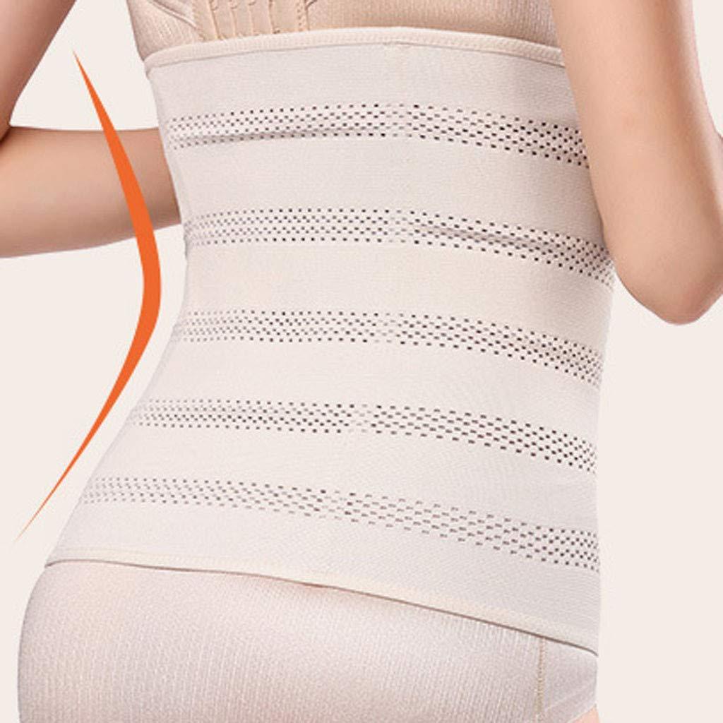 BOOMJIU Womens Latex Sports Waist Trainer Long Torso Waist Cincher Tummy Control 3 Hook Rows