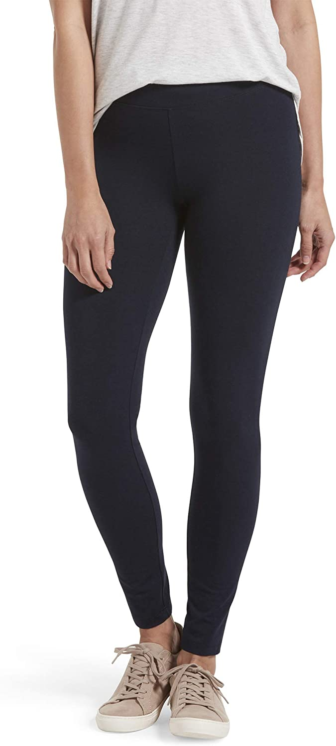 HUE Women's Cotton Ultra Legging with Wide Waistband, Assorted