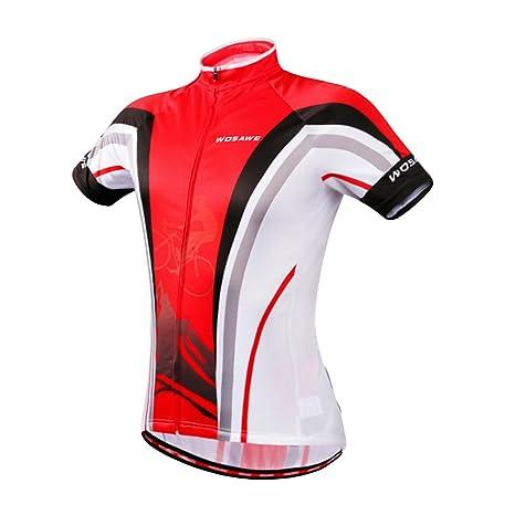 Wosawe playera de ciclismo para hombre para bicicleta ciclo Jersey de manga  corta camisas Tops 501ceaf12