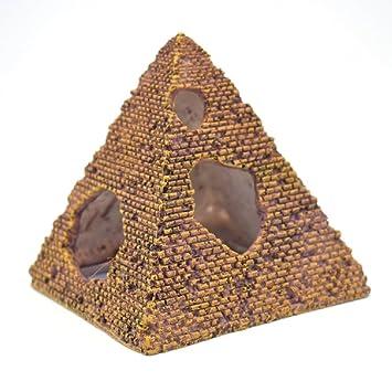 K&C ambientes exóticos de piedra antigua de las ruinas de la pirámide del ornamento del acuario