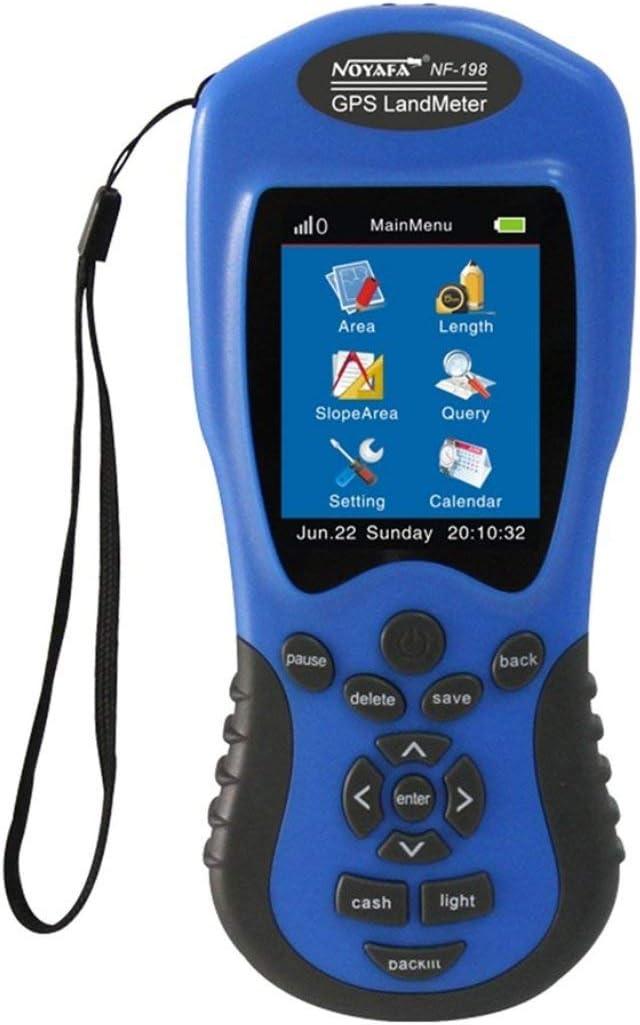 Dispositivos de prueba GPS NF-198 Medidor GPS terrestre Pantalla LCD Valor de medición Figura Área de topografía y topografía de tierras agrícolas