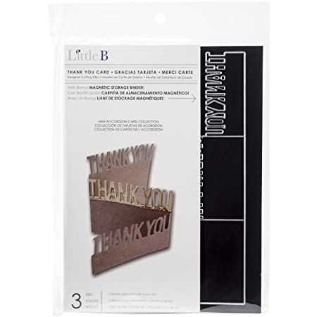 Little B Thank You Card Cutting Dies Amazon Co Uk Kitchen Home