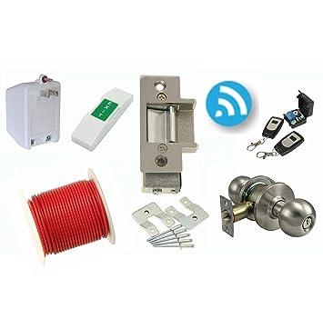 LEE 14C Electric Strike Door Lock \u0026 Wireless Remote Kit - Complete Buzz In Lock System