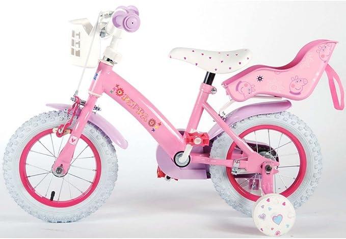 Bicicleta de niño Peppa Pig 12 pulgadas Disney: Amazon.es ...