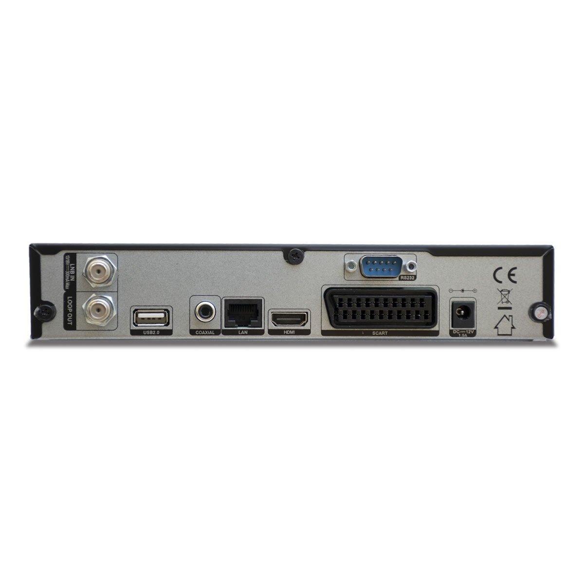 Vuga Viark Sat Full HDTV H.265 digitaler Satelliten-Receiver inkl Schwarz Wlan Stick IPTV, Apps, DVB-S2, HDMI, SCART, LAN, USB 2.0, Full HD 1080p