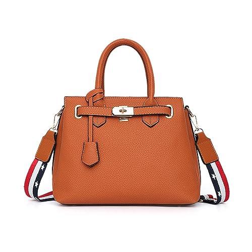Luckywe Mujer carteras bolsos cuero Satchel diseñador Hebilla de metal bolsa A83 naranja: Amazon.es: Zapatos y complementos
