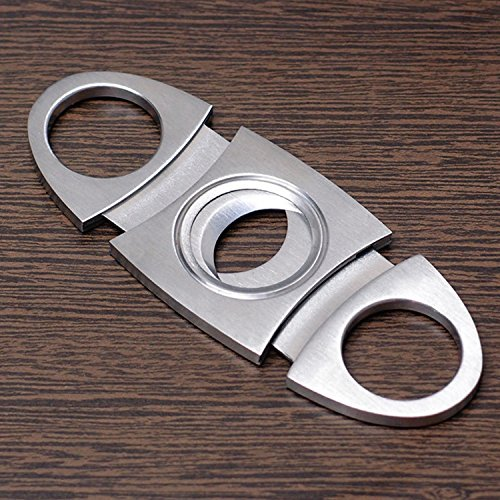 BLINKEEN® Cigar Cutter Stainless Steel Double Blade Guillotine Scissors for Most Size of Cigars