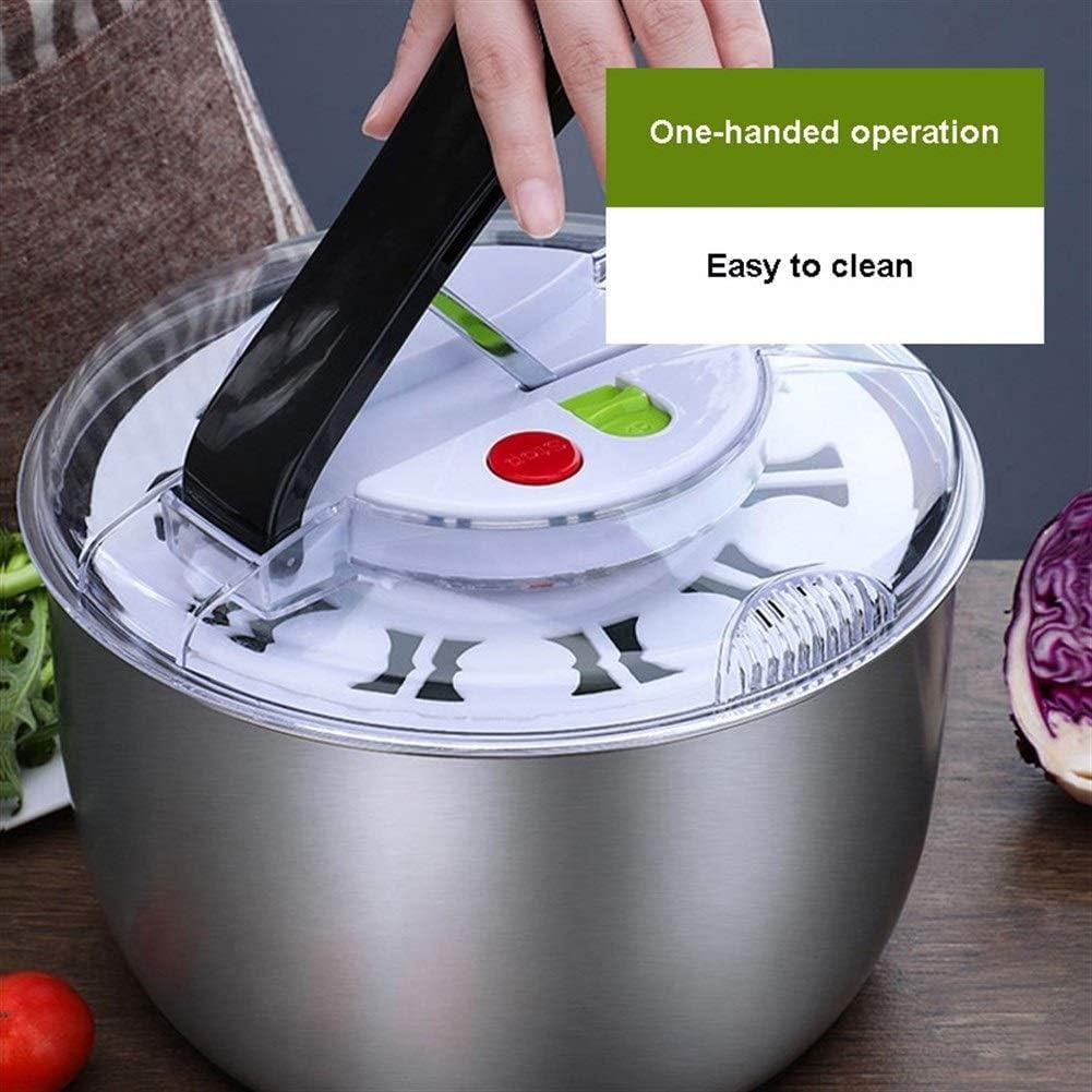 Lettuce Spinner Manual Fruit Vegetables Dehydrator Dryer Cleaner Basket Kitchen Dehydrator Baskets Washer Fruits Salad Lettuce Spinner Strainer Salad Dressing Shaker BCGT Salad Spinner