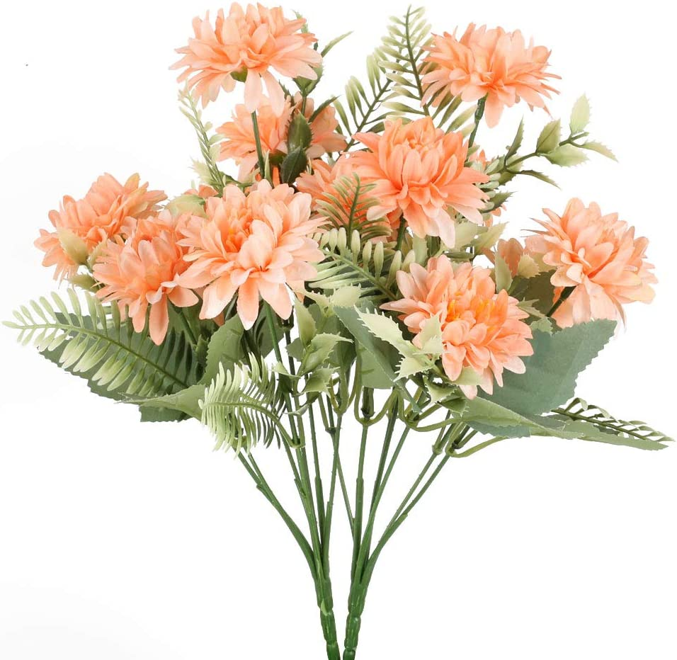 Greenery Plants Garden Artificial Flowers Silk Fake Daisy Bouquet Dried Flowers