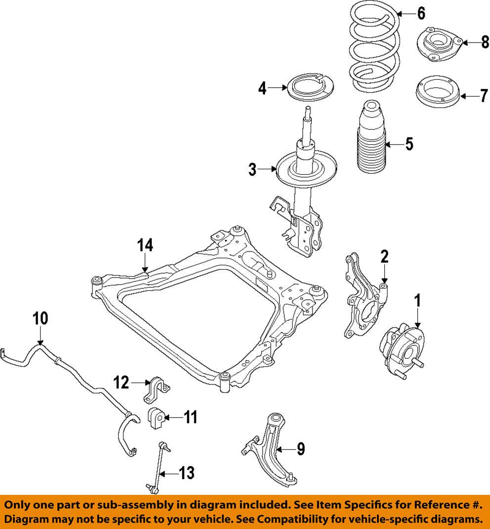 Nissan E4303-9PB0A Strut Kit-Frt Suspension by Nissan (Image #1)