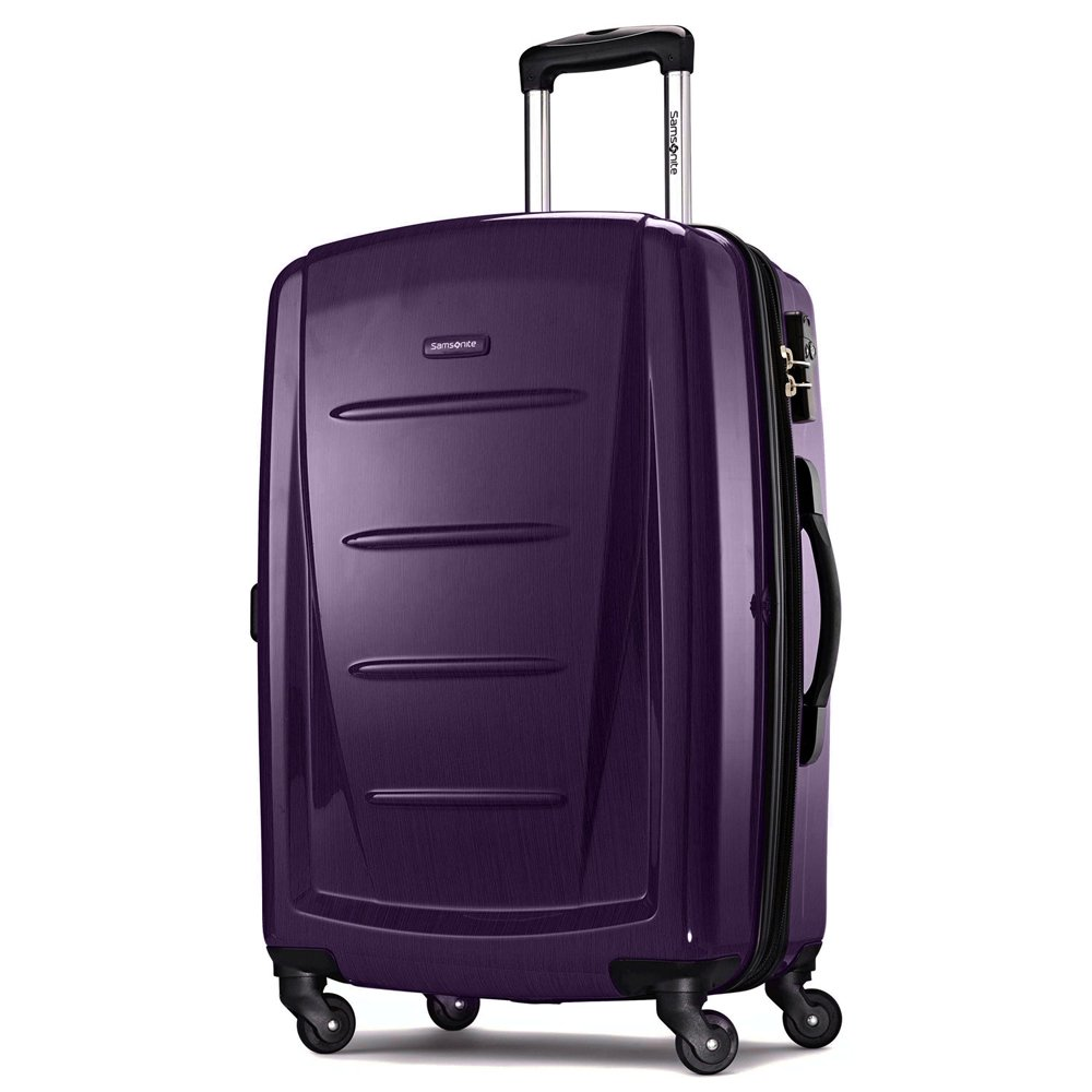 Purple with Luggage Accessory Kit Samsonite Winfield 2 Fashion 3pc Spinner Set