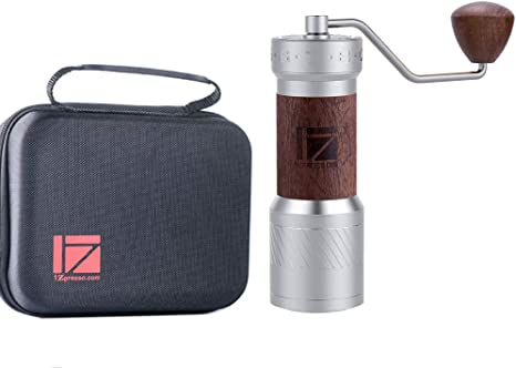 1zpresso Manual Coffee Grinder K Plus Series Light Gray Heptagon Wide Coating Burr External Adjustment Design