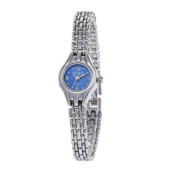 YAZILIND de cuarzo reloj de pulsera de reloj de pulsera de acero de titanio correa de
