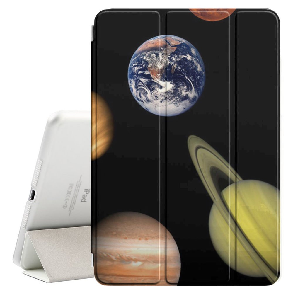 STPlus Solar System Planets Smart Cover With Back Case + Auto Sleep/Wake Funtion + Stand for Apple iPad 2017 (9.7'')