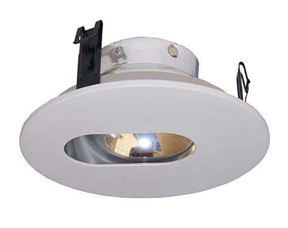 brand new acbbf 8573d 4 Inches Adjustable Slot Trim/Trims for Low Voltage Recessed  Light/lighting-White Fit Halo/Juno