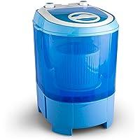oneConcept SG003 • Camping-Waschmaschine • Mini-Waschmaschine • Wäscheschleuder • Toploader • 2,8 kg Kapazität • 180 Watt Leistung • für Singles und Studentenhaushalte • geräuscharm • sparsam • blau