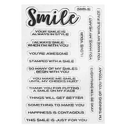 Amazon Com Shapew Words Silicone Clear Stamp Scrapbook Album Home