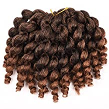 Silike JUMPY Wand Curl Ombre Jamaican Bounce (1pack T1B/30) Crochet Braids Synthetic Hair for women