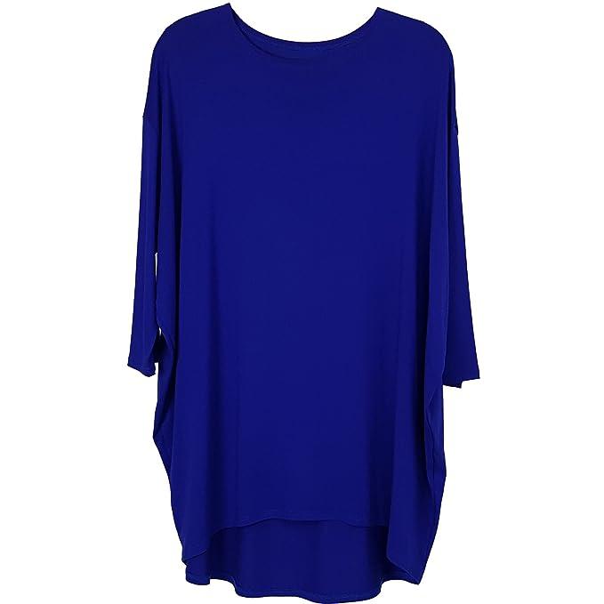 Estilo italiano mujer damas Lagenlook vestido de túnica blusa superior más tamaños | Túnica y Tops