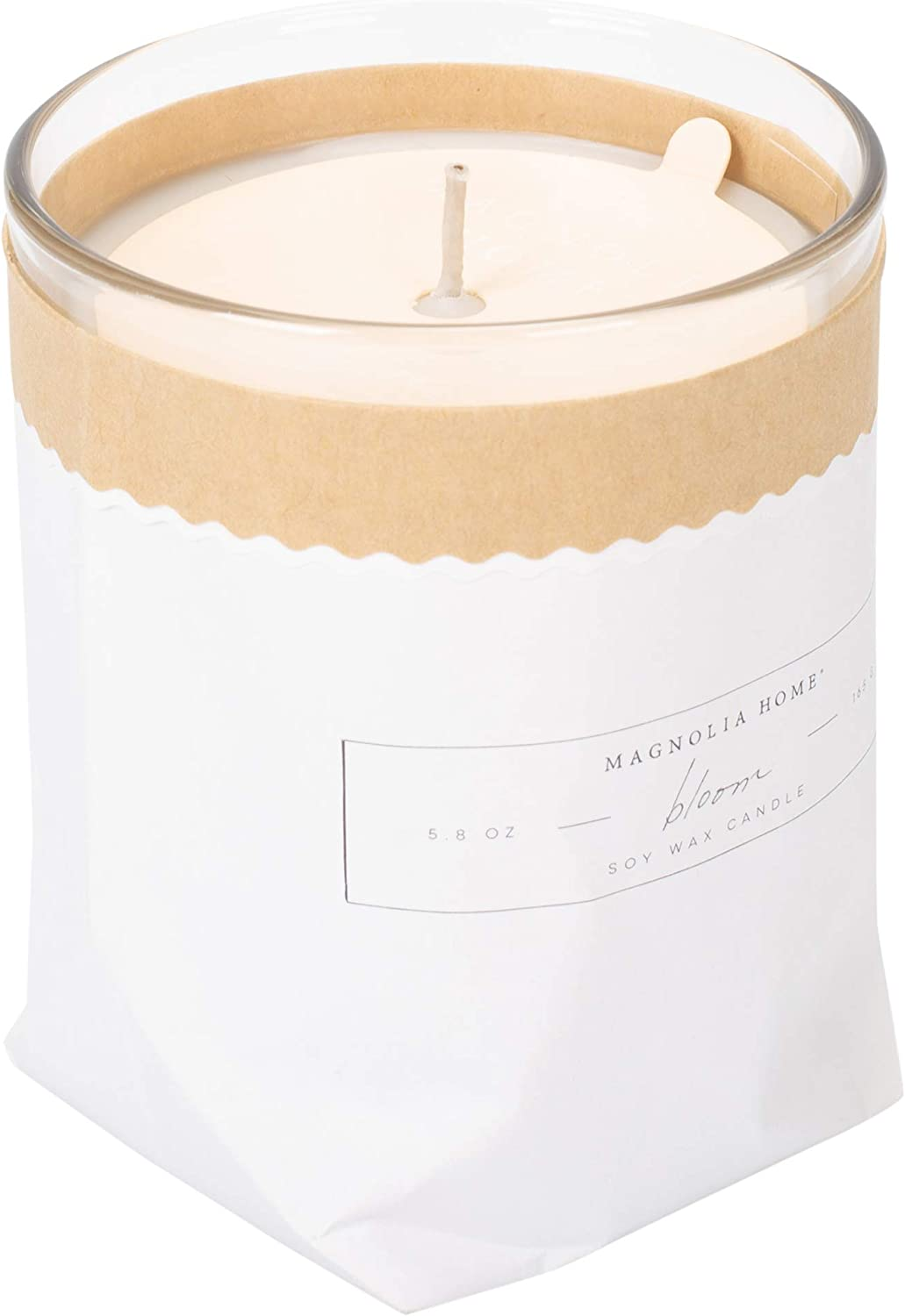 Bloom Scented 5.8 ounce Soy Wax Kraft-Textured Candle by Joanna Gaines - Illume