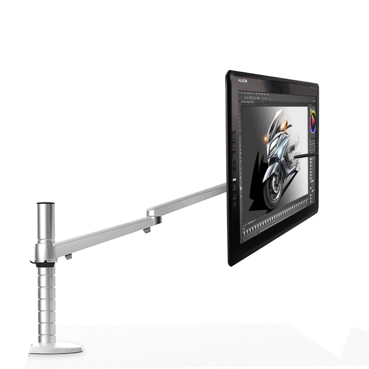 Huion Computer Monitor Stand Single Drawing Tablet Monitor Mounting Arm for GT-191, GT-220 V2, GT-185, GT-190 and more