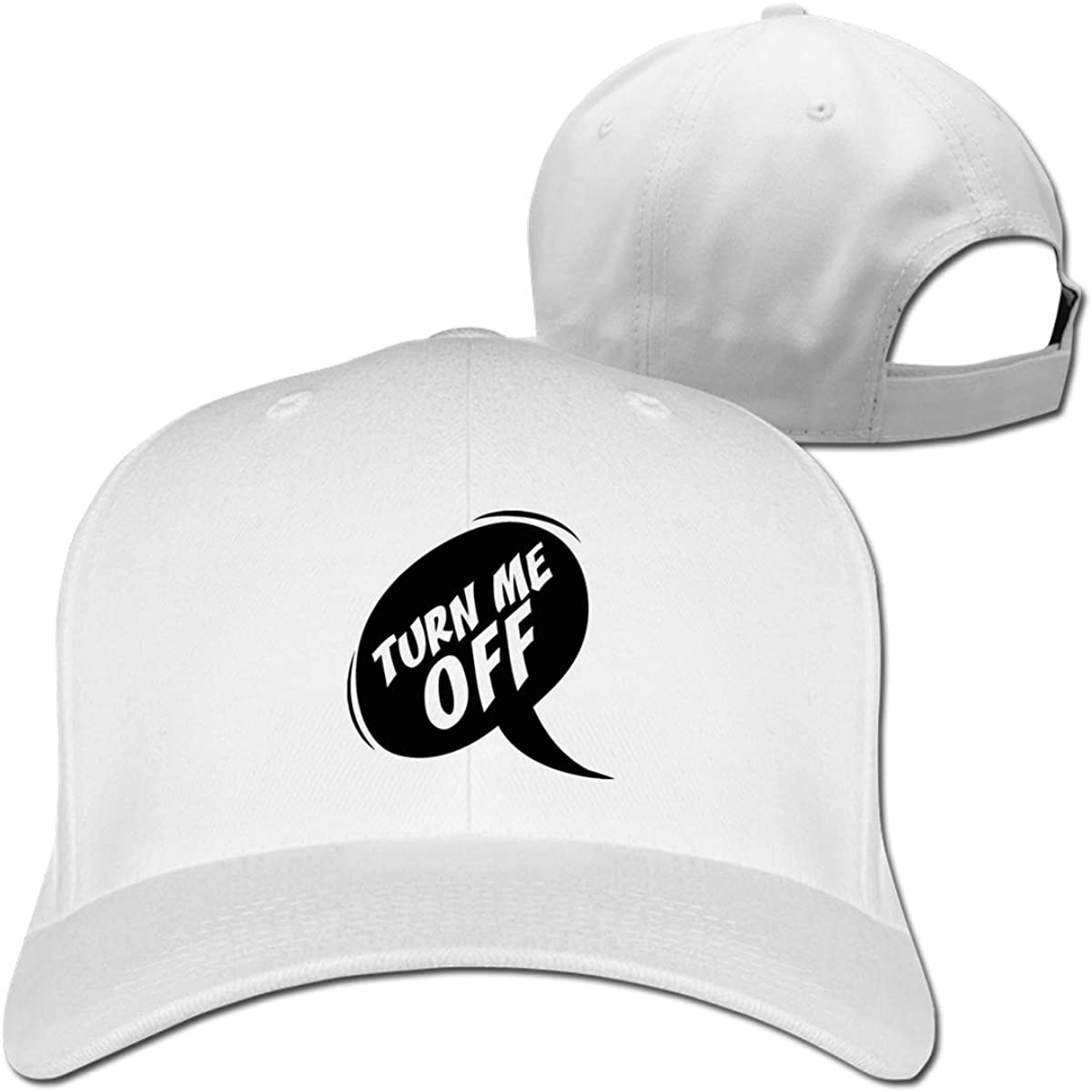 Turn Me Off Fashion Adjustable Cotton Baseball Caps Trucker Driver Hat Outdoor Cap White