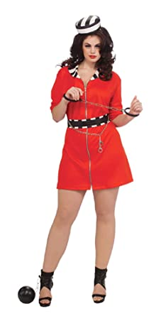 convict girl halloween costume rubies sexy cute adult womens plus inmate prison