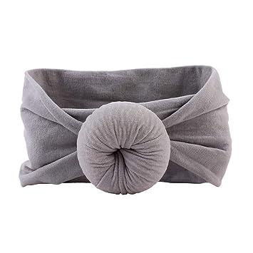 Grey Nylon Bow Headband