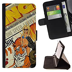 Momo Phone Case / Flip Funda de Cuero Case Cover - Arte pop de la vendimia;;;;;;;; - Huawei Ascend P8 (Not for P8 Lite)