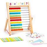 ZAILHWK Wooden Abacus Counting Math Educational Toy Classic Counting Tool for Preschool Boys and Girls 2 Year Olds and…