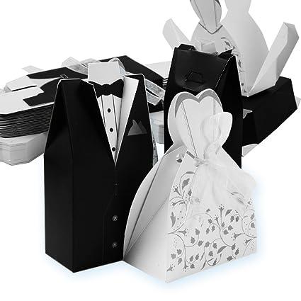 Segnaposto Matrimonio 50 Centesimi.Qumao 50 Sposo 50 Sposa Scatoline Portaconfetti Scatole Carta Bomboniere Segnaposti Per Matrimonio Nozze Festa Anniversario 50 Paia