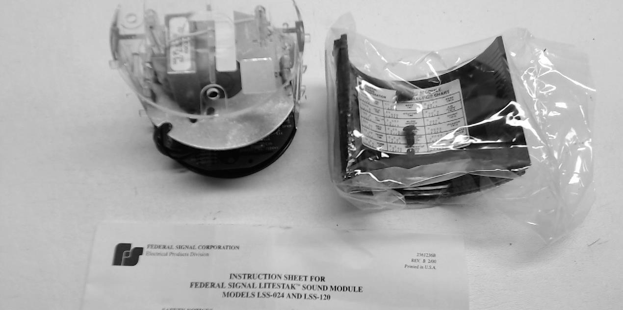 Federal Signal Lss-120 Stack Light Sound Module Lss-120