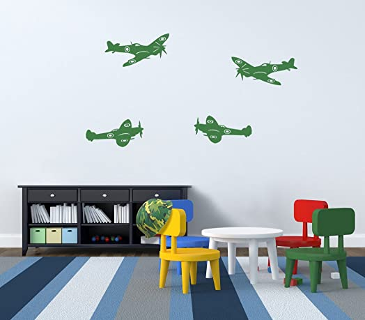 Vinyl Concept Army Spitfire Plane Army Army Wall Stickers - Custom vinyl wall decals uk how to remove