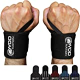 """WOD Nation Wrist Wraps Weightlifting for Men & Women - Weight Lifting Wrist Wrap Set of 2 (12"""" or 18"""") + Includes Carrying Bag"""