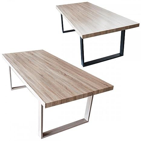 Table A Manger Salon.Monmobilierdesign Table Salle A Manger Salon Plateau Mdf Bois 180x100x75 Marron