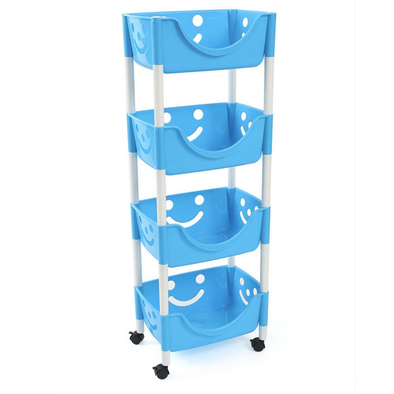 Amazon.com: smiling face plastic storage rack kitchen storage rack ...