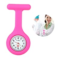 Yesurprise Silicone Nurse Watch Quartz Clip on Brooch Fob Pin Pocket Watches Montre de poche