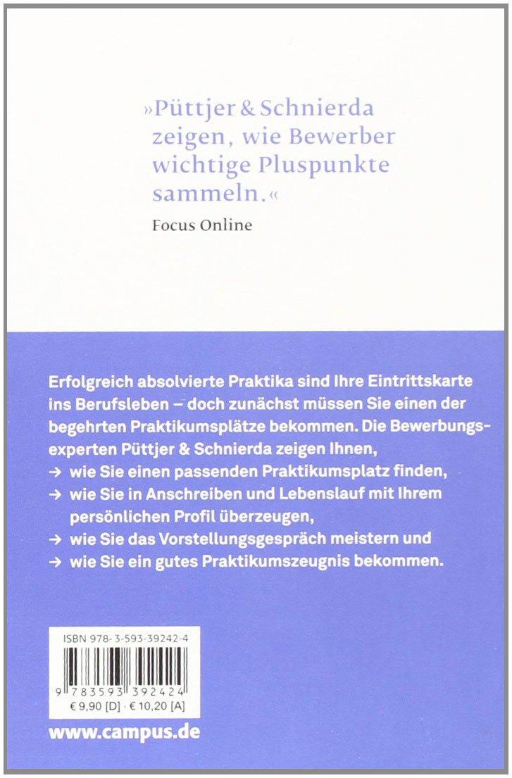 Bewerben um ein Praktikum (Bewerbung Last Minute) - Christian Püttjer, Uwe  Schnierda - Amazon.de: Bücher