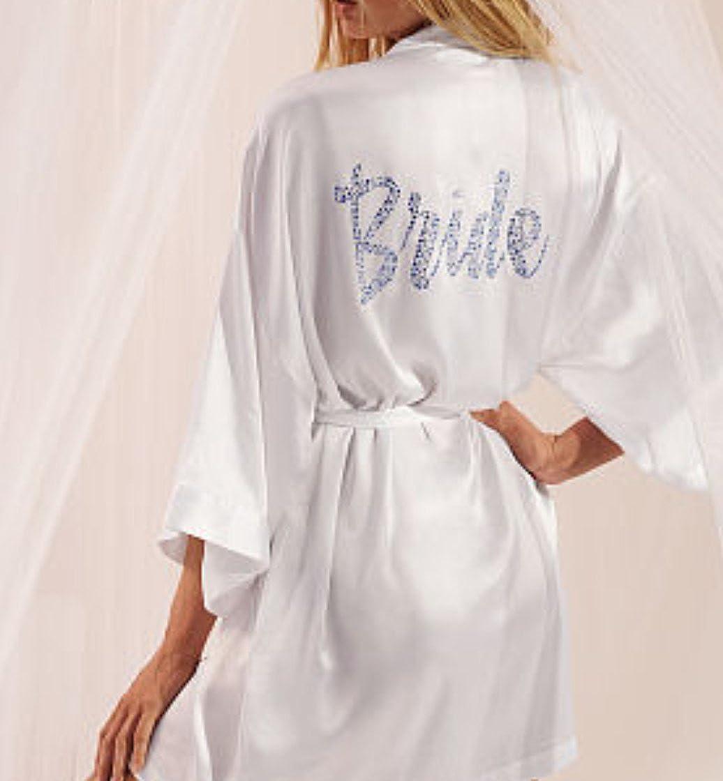 2c5fee30825 Victoria s Secret White Satin Bridal Robe  Amazon.ca  Clothing   Accessories