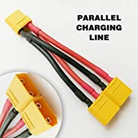 XT90 Parallel Adapter Y Splitter 2 Male to 1 Female for Lipo Battery Wire 12AWG