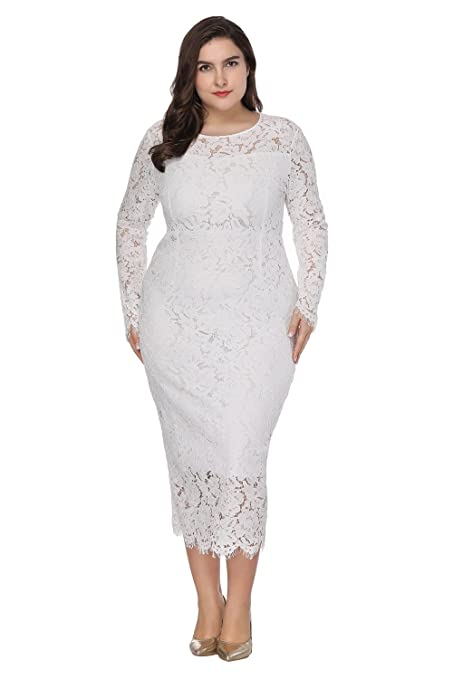 HUAN Womens Sexy Dresses,Lace Party Prom Dress -Plus Size Mid-Length Cocktail