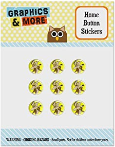 Looney Tunes Wile E Coyote Set of 9 Puffy Bubble Home Button Stickers Fit Apple iPod Touch, iPad Air Mini, iPhone 5/5c/5s 6/6s 7/7s Plus