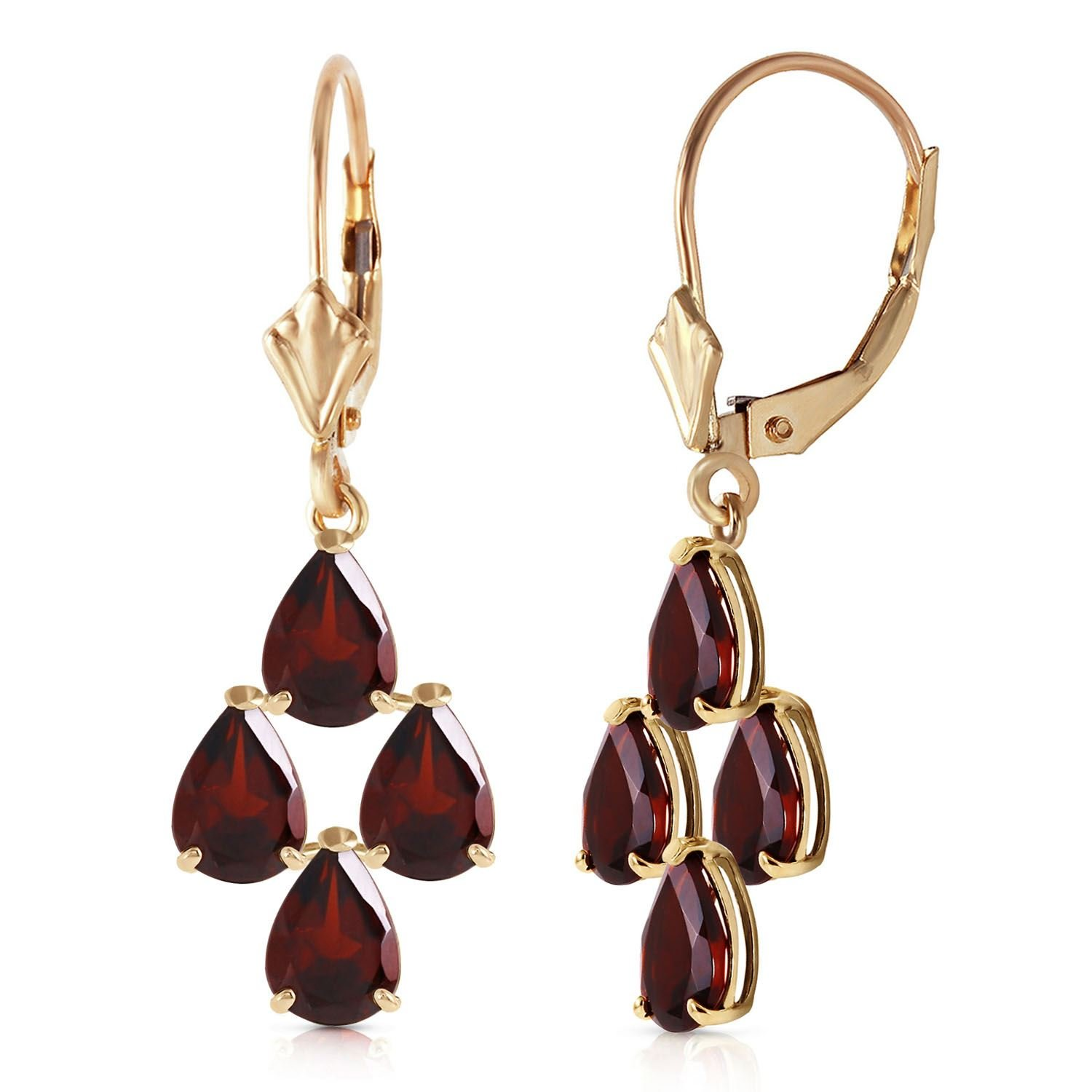 ALARRI 4.5 CTW 14K Solid Gold First Love Garnet Earrings