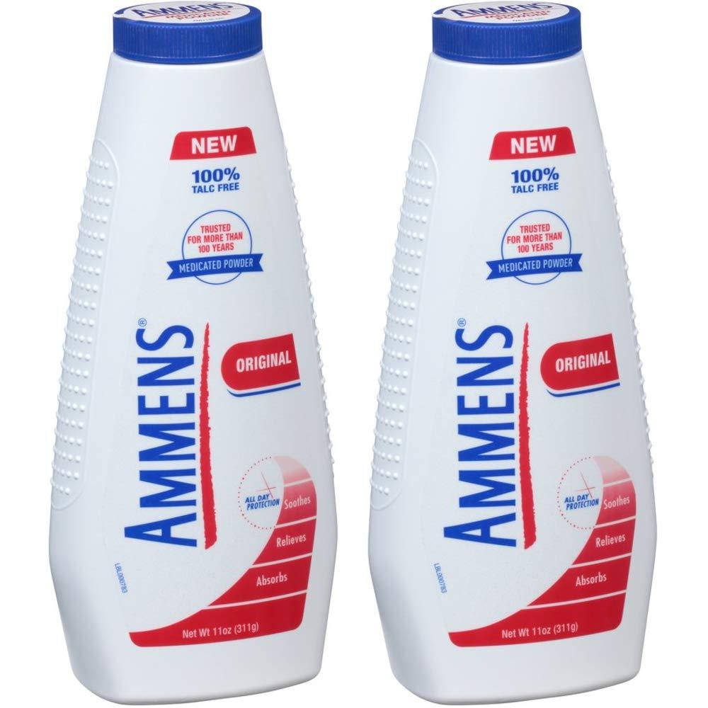 Ammens Medicated Powder-Original-11 oz, 2 pk