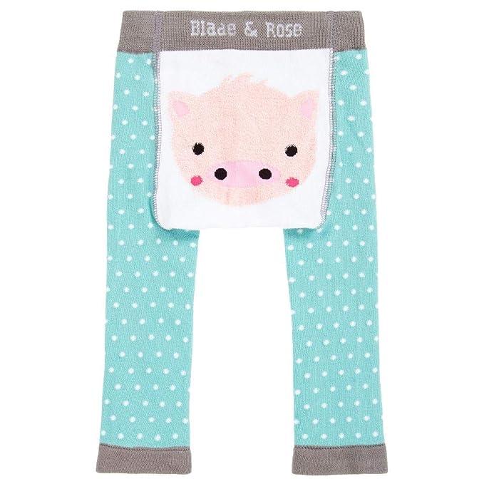 Blade /& Rose Fluffy Pig Baby Leggings Matching Socks.