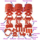 [Sintron] Kossel Mini Plastic Printed Parts full kit for MK8 Extuder RepRap Rostock Delta 3D Printer, PLA Red (kossel-plastic)
